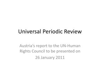Universal Periodic Review