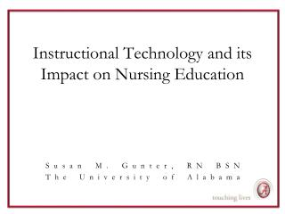 Instructional Technology and its Impact on Nursing Education