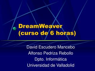 DreamWeaver  (curso de 6 horas)