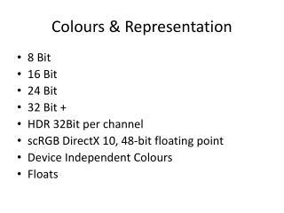 Colours & Representation