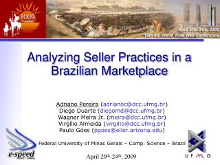 Analyzing Seller Practices in a Brazilian Marketplace