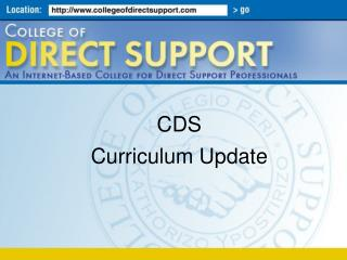 CDS  Curriculum Update
