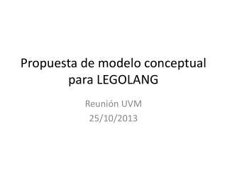 Propuesta de modelo conceptual para LEGOLANG
