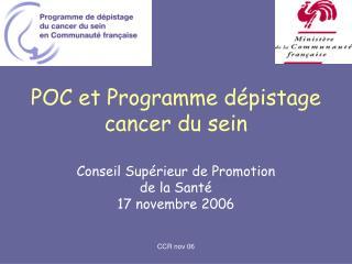 POC et Programme d pistage cancer du sein