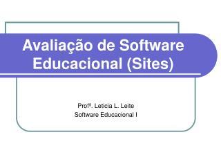 Avaliação de Software Educacional (Sites)