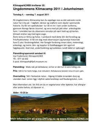 Meir informasjon  på  DNTung.no  og  klimapark2469.no