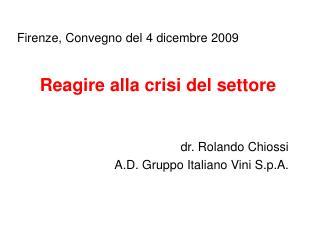 Firenze, Convegno del 4 dicembre 2009
