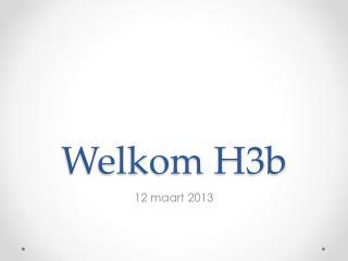 Welkom H3b