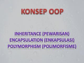 KONSEP OOP