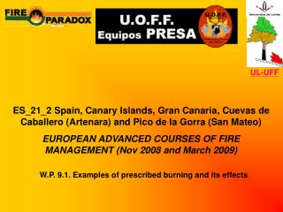 W.P. 9.1. Examples of prescribed burning and its effects