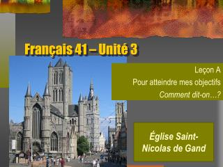 Français 41 – Unité 3