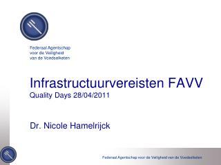 Infrastructuurvereisten FAVV Quality Days  28/04/2011