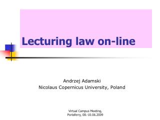 Lecturing law on-line