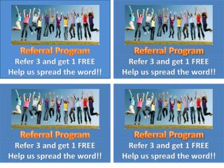 Refer 3 and get 1 FREE Help us spread the word!!