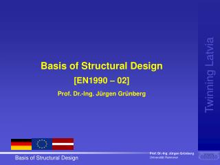 Basis of Structural Design [EN1990 – 02] Prof. Dr.-Ing. Jürgen Grünberg
