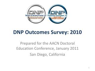 DNP Outcomes Survey: 2010