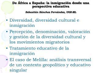 Diversidad, diversidad cultural e inmigración