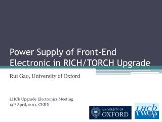 Power Supply of Front-End Electronic in RICH/TORCH Upgrade