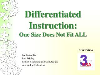 Differentiated Instruction: One Size Does Not Fit ALL