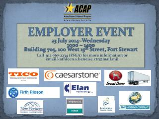 EMPLOYER EVENT 23 July 2014~Wednesday 1000 ~ 1400