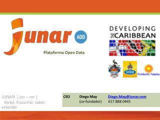 CEODiego May             Diego.May@Junar (co- fundador )        617.888.0465