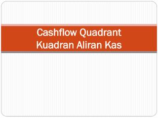 Cashflow  Quadrant Kuadran Aliran Kas