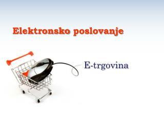 E- trgovina