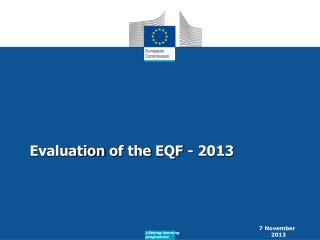 Evaluation  of  the  EQF - 2013