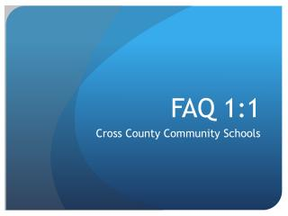 FAQ 1:1