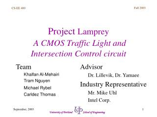 Project  Lamprey A CMOS Traffic Light and Intersection Control circuit