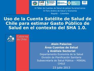 Alain Palacios Área Cuentas de Salud  y Análisis Sectorial  Departamento Economía de la Salud