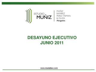 DESAYUNO EJECUTIVO JUNIO 2011