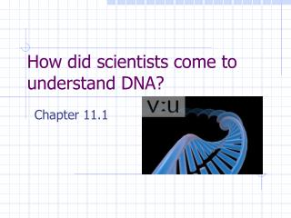 How did scientists come to understand DNA?