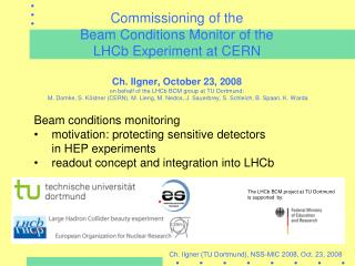 Beam conditions monitoring motivation: protecting sensitive detectors 	in HEP experiments
