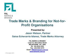 Trade Marks & Branding for Not-for-Profit Organisations