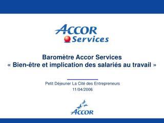 Barom tre Accor Services    Bien- tre et implication des salari s au travail