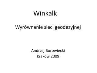 Winkalk