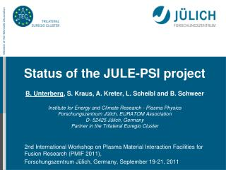 New  PWI research programme at FZJ: Plasma wall interactions in nuclear environment
