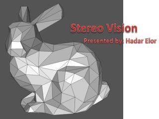 Presented by:  Hadar Elor