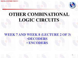 OTHER COMBINATIONAL LOGIC CIRCUITS