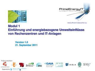 Modul 1 Einführung und energiebezogene Umwelteinflüsse von Rechenzentren und IT-Anlagen