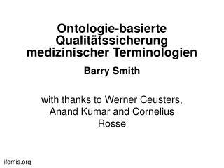 Ontologie-basierte Qualitätssicherung medizinischer Terminologien