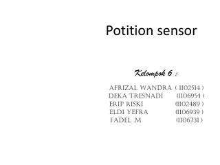 Potition sensor
