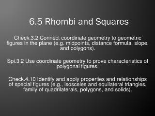 6.5 Rhombi and Squares