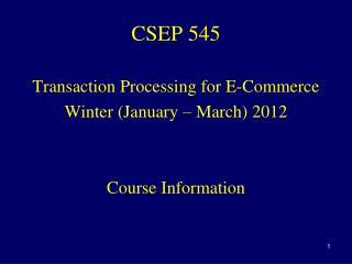 CSEP 545