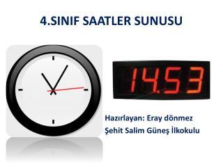 4.SINIF SAATLER SUNUSU