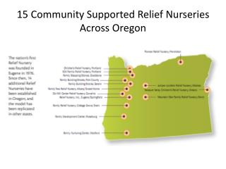 15 Community Supported Relief Nurseries Across Oregon