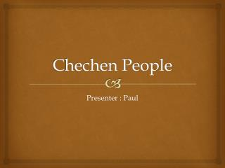 Chechen People