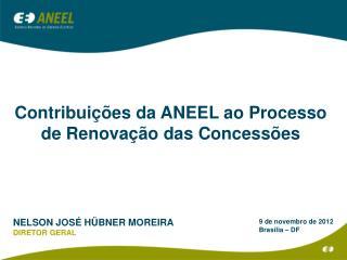 Contribuições da ANEEL ao  Processo  de Renovação das Concessões