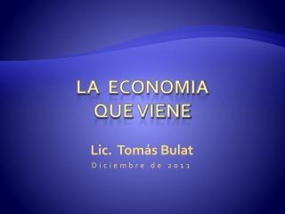 La   economia que viene
